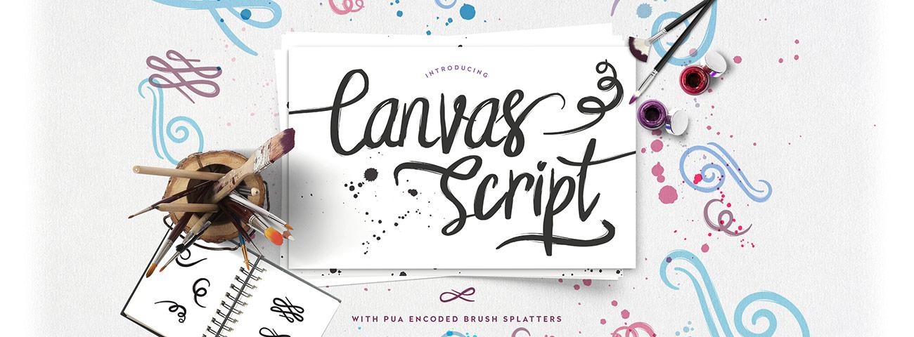 simple script font